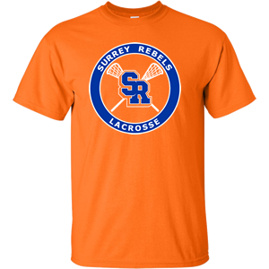 Surrey Rebels - Classic Logo Ultra Cotton T-Shirt - Orange (Booking Only)