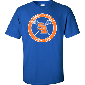 Surrey Rebels - Classic Logo Ultra Cotton T-Shirt - Royal (Booking Only)