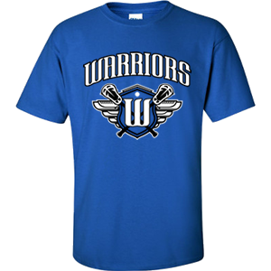 Surrey Warriors - Primary Logo Performance T-Shirt - Royal