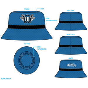 Surrey Warriors - Pukka Custom Performance Bucket Hat - Royal/Black (Limited Stock)