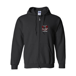 Shuswap Outlaws - Heavy Blend Full Zip Cotton Hoodie - Black (Booking Only)