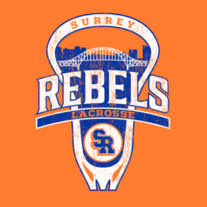 Surrey Rebels - City Logo Heavy Blend Cotton Hoodie - Orange (Booking Only)