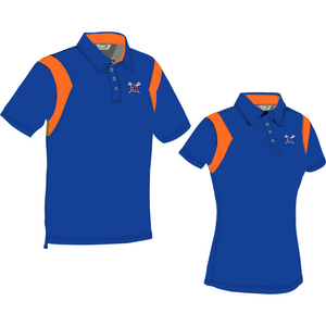 Surrey Rebels - Custom Coaches and Managers Polo - Royal/Orange(Booking Only)