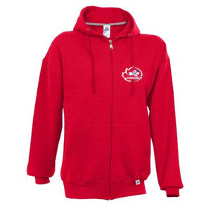 Synergy Volleyball - Russell Athletic Full Zip Hoodie - Red (Booking Only)