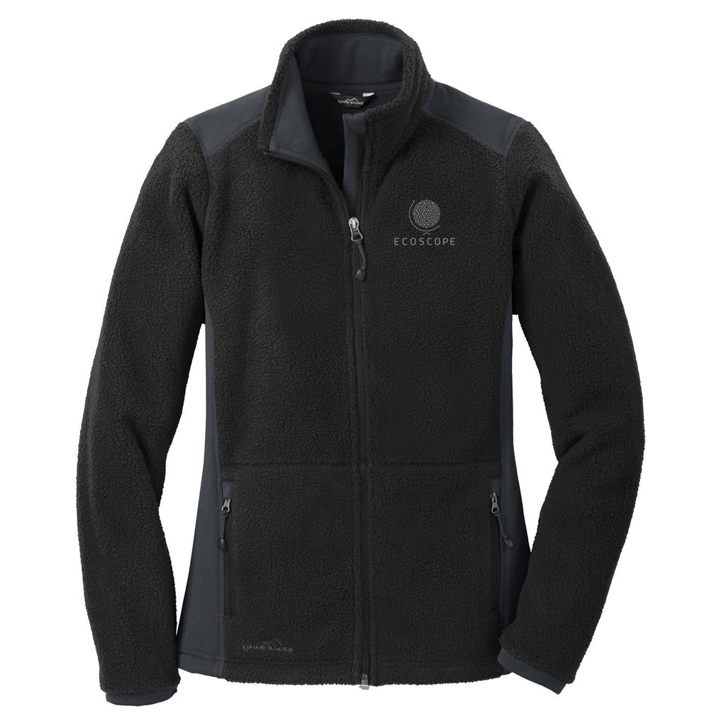 UBC ECOSCOPE - Eddie Bauer® Ladies Sherpa Fleece Full Zip Jacket (Booking Only)