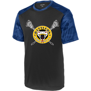 Kamloops Rattlers -  Adult/Youth Performance Short Sleeve Shooter Shirt - Black and Royal Camo (Booking Only)