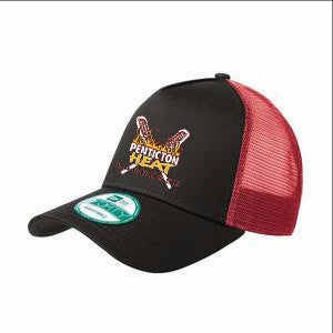Penticton Heat - NEW ERA® Trucker Snapback - Black/Red (Booking Only)
