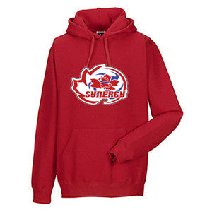 Synergy Volleyball - Russell Athletic Fleece Hooded Pullover -Red (Booking Only)