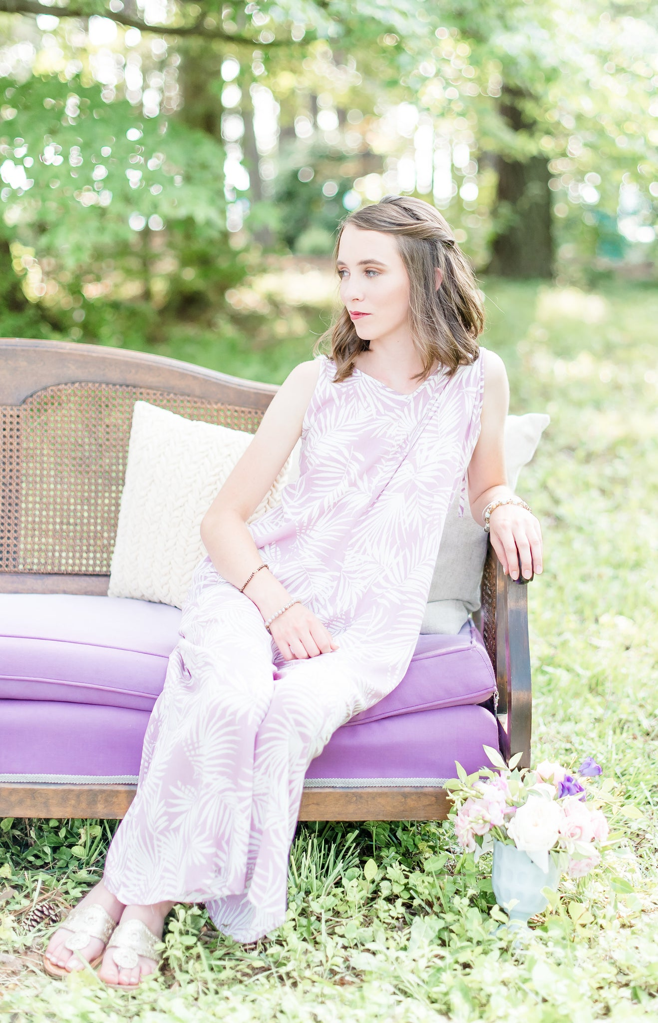 Lilac Leaf Jumpsuit | Sweetest Stitch Best Boutique Richmond VA