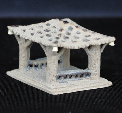 "1.5"" Rustic Gazebo Pavilion Clay Bonsai Figurine"
