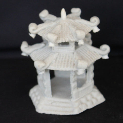 "2.5"" Hexagon Pavilion Clay Bonsai Figurine"