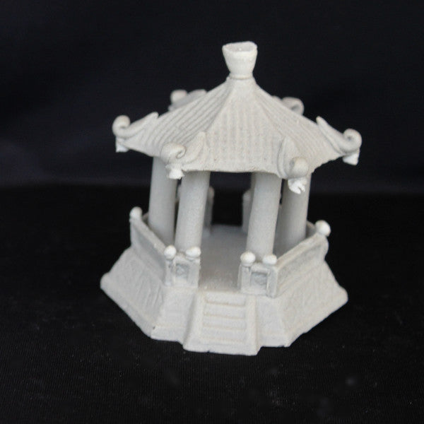 "3"" Hexagon Pavilion Clay Bonsai Figurine"