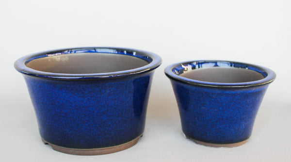 Japanese 18 02 Royal Blue Glazed 6 5 Quot D Circle Ceramic
