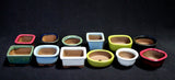 Japanese #26-04 Micro-Mame Ceramic Bonsai Pot (12 Piece Set)