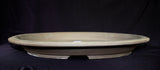 "Japanese  Brown Clay Unglazed 12.25""L Oval, Slim Forest Ceramic Bonsai Pot"