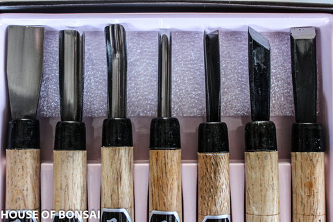 Bonsai Carving and Grafting Bonsai Tools - 7 Piece Set