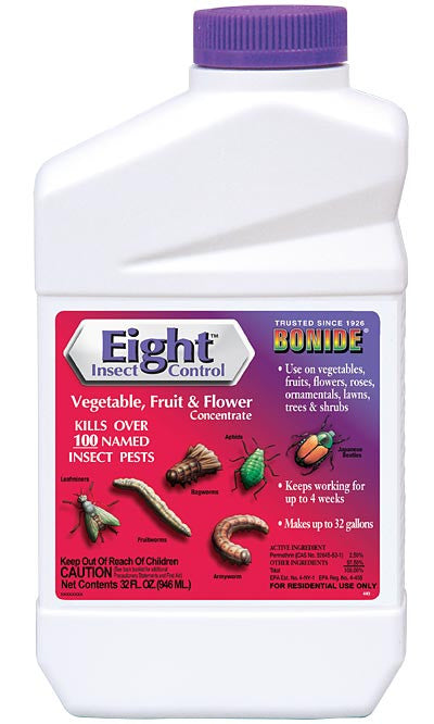 Bonide Eight Insect Control for Vegetables Fruit and Flowers Concentrate 32 fl oz Bottle