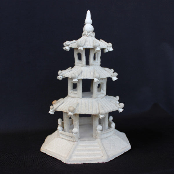 "4""L x 5.75""H Extra-Large Hexagon Pagoda Mudmen Bonsai Figurine"