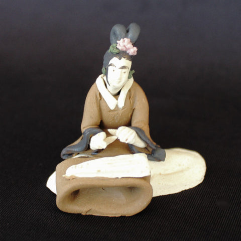 "1.5"" Female Musician Mudmen Bonsai Figurine"