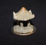 "0.5""L x 0.6""H  Single Roof Tiny Pavilion Mudmen Bonsai Figurine"