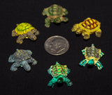 "1""L x 0.5""H Tiny Turtle in Assorted Colors Resin Bonsai Figurine"