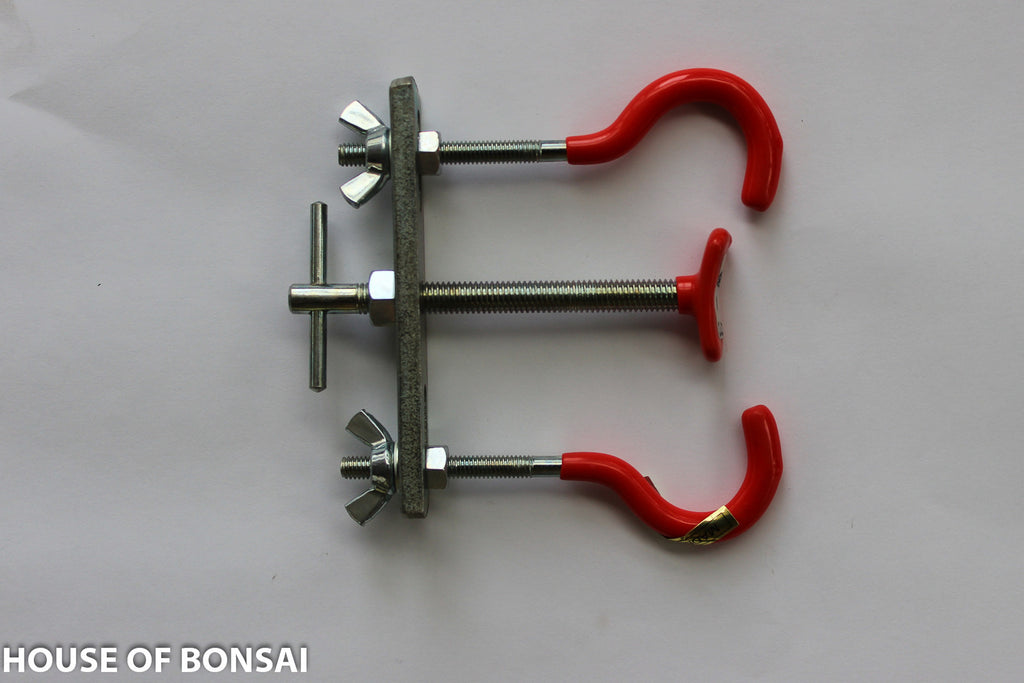"Yoshiaki W-3 Adjustable Bonsai Branch Bender Clamps and Jack - 4"" x 4"""