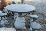 Dog Themed Stone Lantern Table and Chair Set
