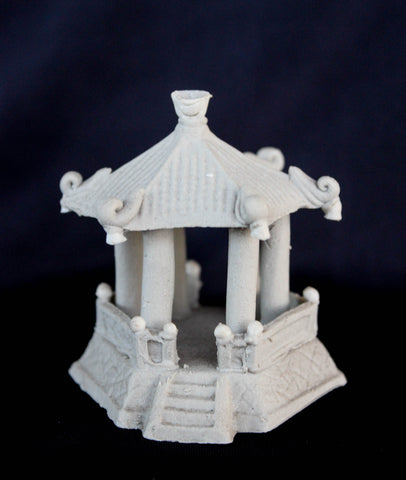 "3.5""L x 2.75""H Hexagon Pavilion Mudmen Bonsai Figurine"