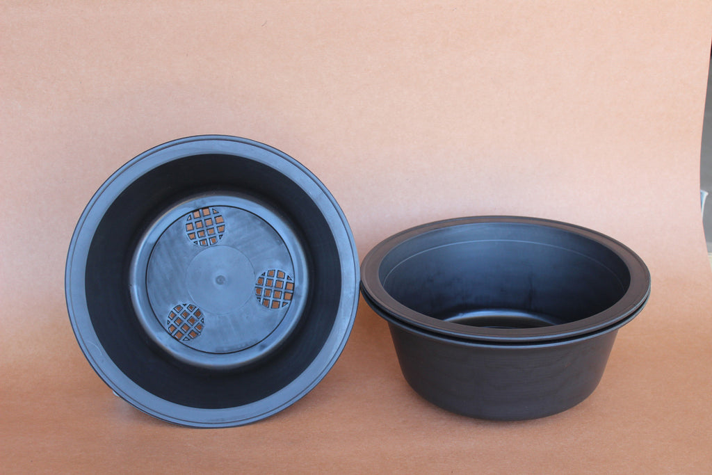"Circle 11.5"" D x 5"" H Bonsai Plastic Training Pot (New Design) - Set of 3"