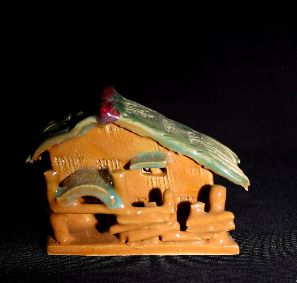 "3.5""L Colorful Hut Mudmen Bonsai Figurine"