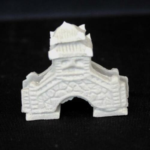 "2""L x 1.25""H Pavilion Stone Bridge Mudmen Bonsai Figurine"