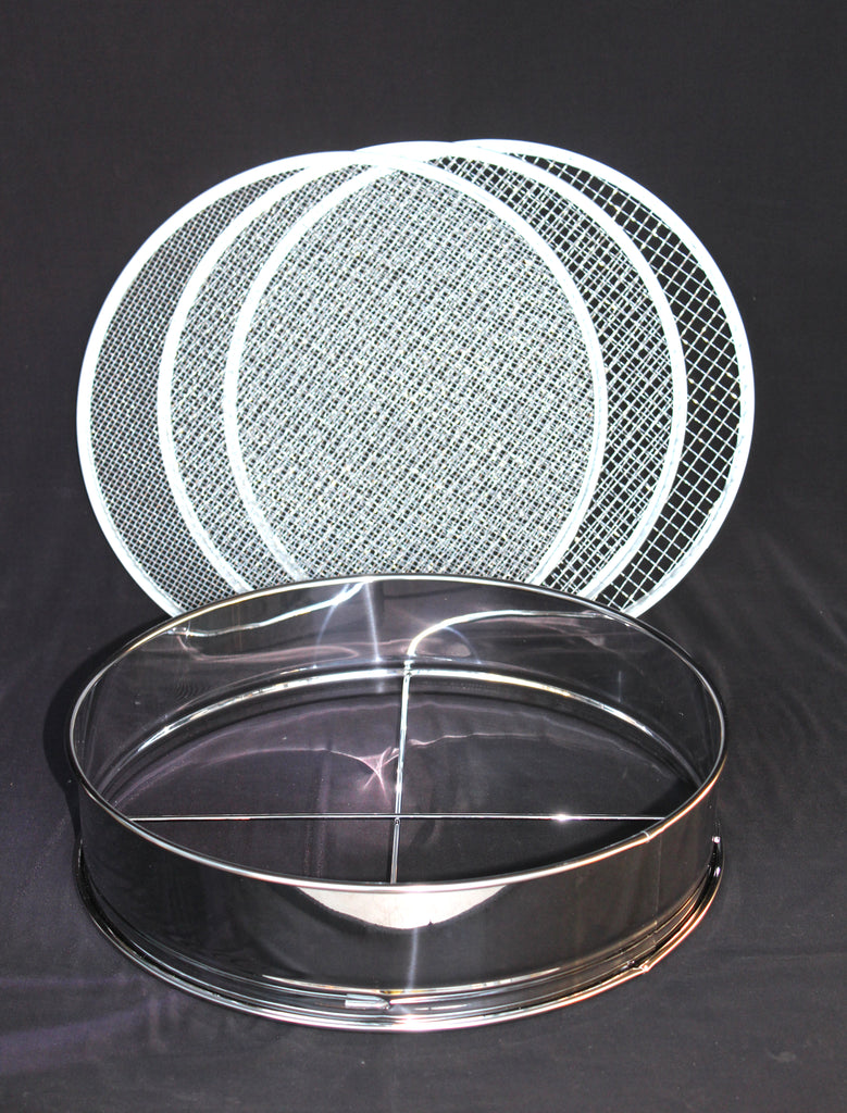 Bonsai soil  sieve Large  4 pcs set / stainless steel,  Made in Japan