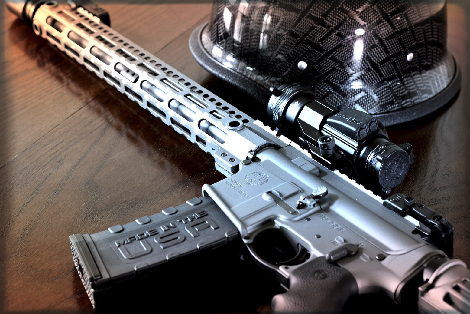 Customized Ruger AR-556