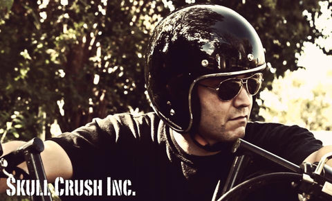 Skull Crush Gloss Black DOT Helmet