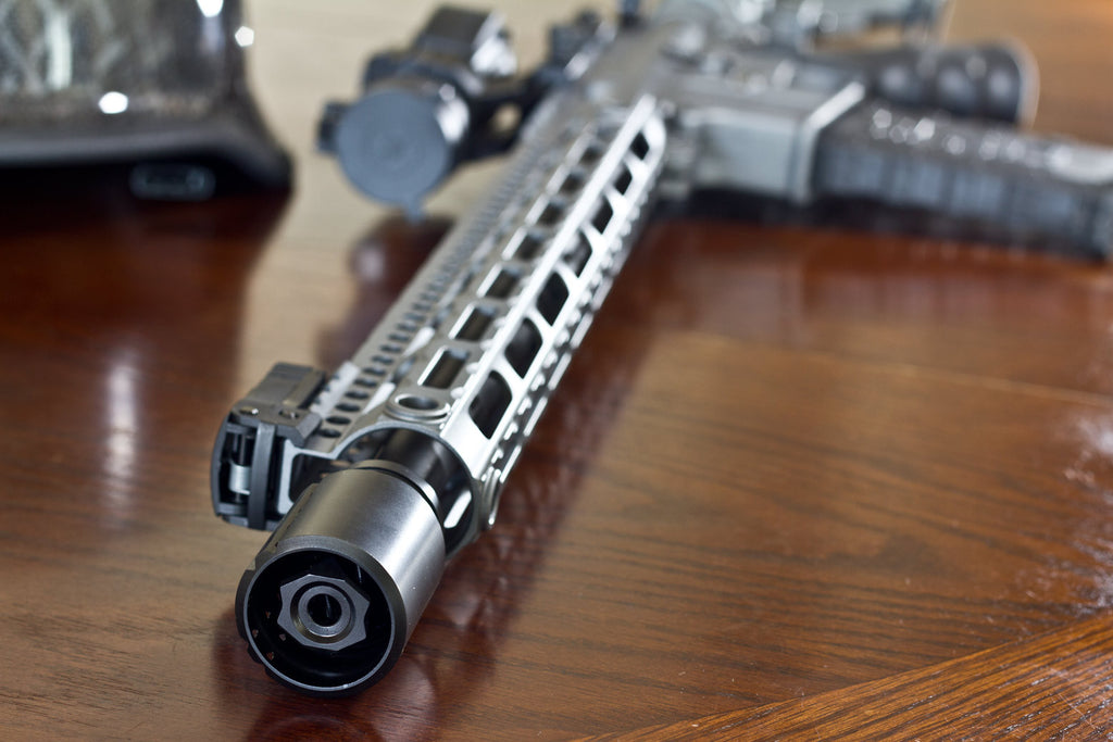 Fortis muzzle brake and control shield on a Ruger AR-556