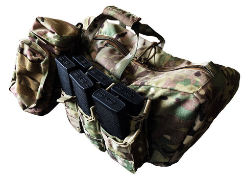 Multicam Tactical Motorcycle Saddle Bags