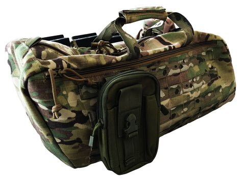 Multicam Saddle Bag with Motorcycle First Aid Kit