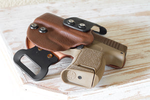 Leather and Kydex holster for P365