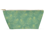 Accessory Pouch - Palms on Green