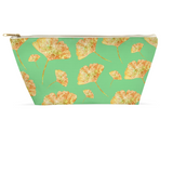Accessory Pouch - Gingkos on green