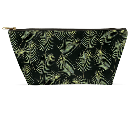Accessory Pouch - Palms on Black