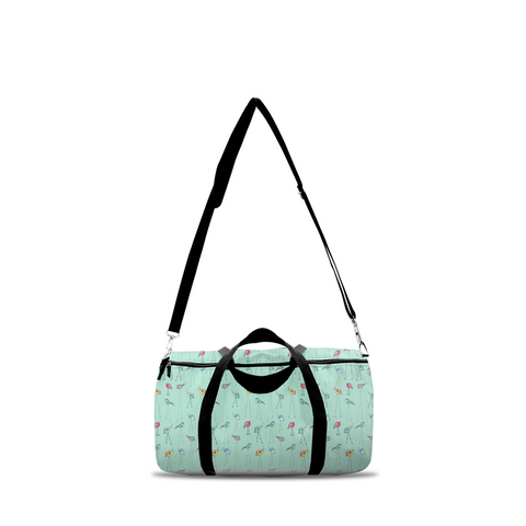 Duffle Bag - Aqua Birds