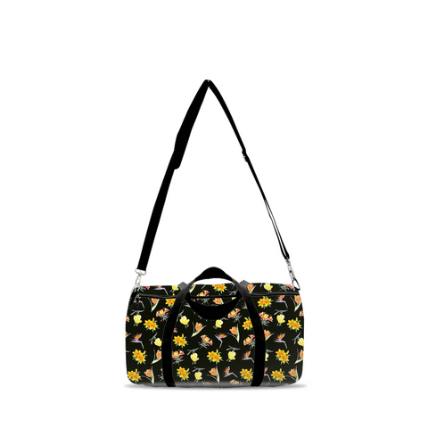 Duffle Bag - Black Floral