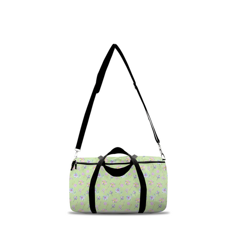 Duffle Bags - Lavender Flowers in Green