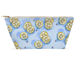 Accessory Pouch - Lemons on Blue