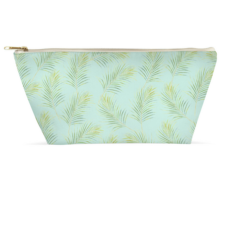 Accessory Pouch - Palms on Aqua