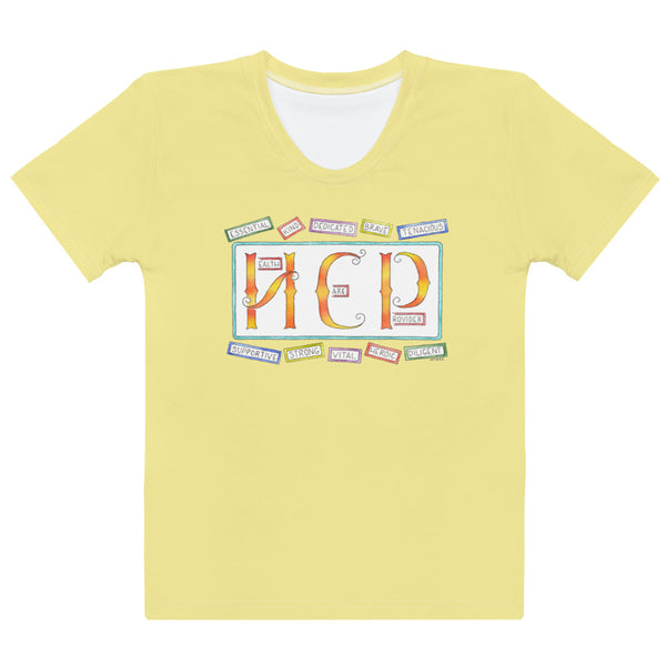 Women's T-shirt - HCP in Yellow