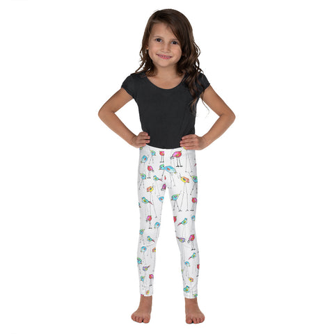 Kid's Leggings - Bird Legs on White Background