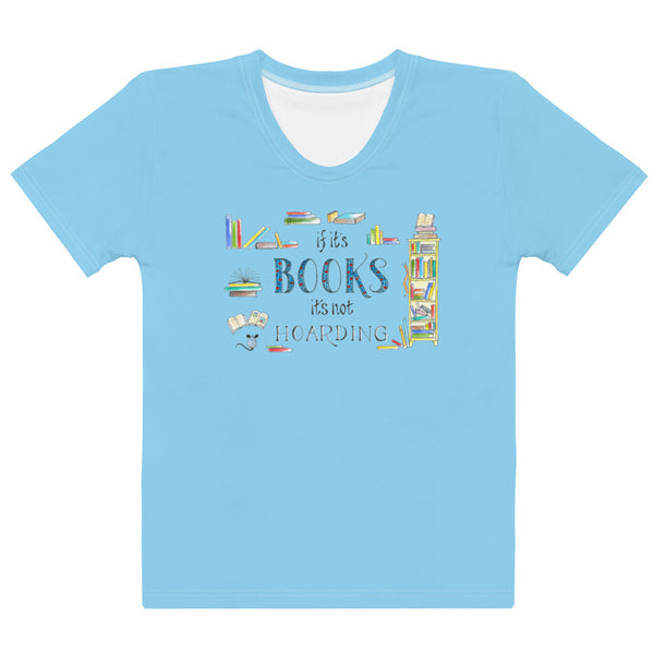 Women's Crew-Neck T-shirt - Hoarding in Blue