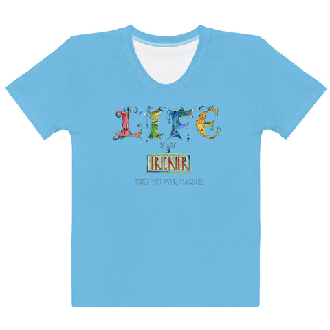 Women's Crew-Neck T-shirt - Life in Blue